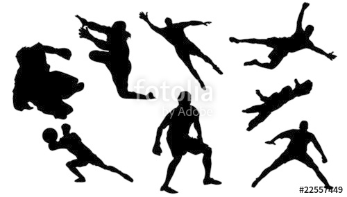 500x284 Goalkeeper Silhouette Stock Image And Royalty Free Vector Files