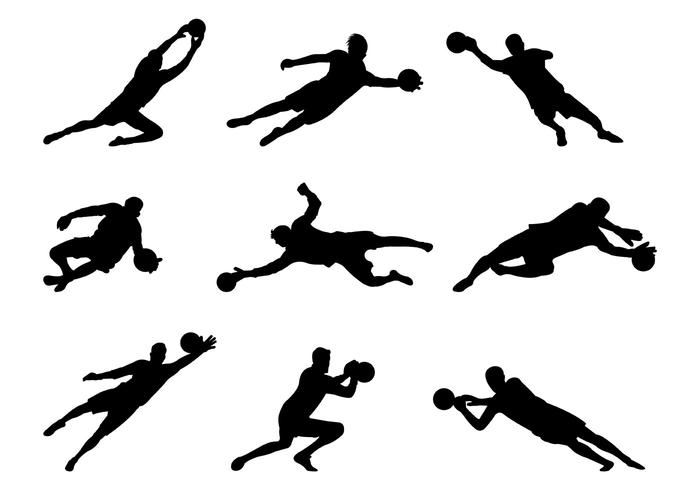 700x490 Set Of Goal Keeper Silhouettes