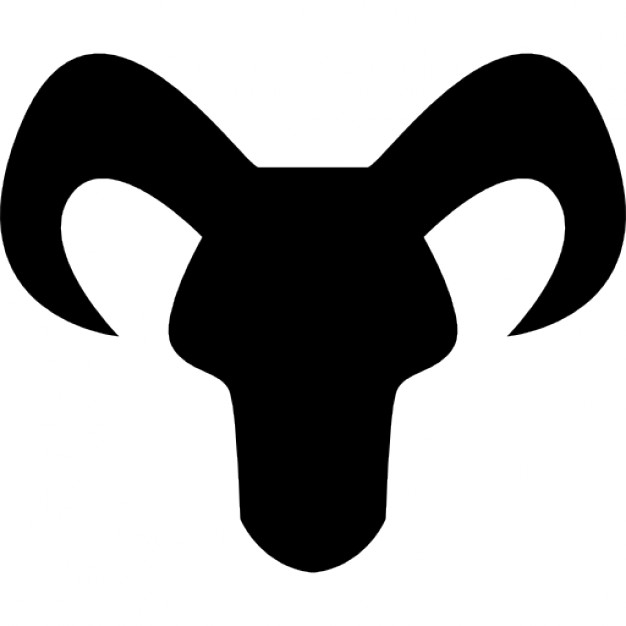 626x626 Capricorn Astrological Sign Of Head Black Silhouette With Horns