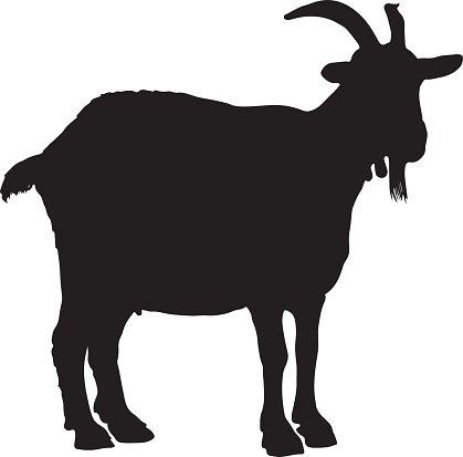 419x413 Goat Silhouette Premium Clipart