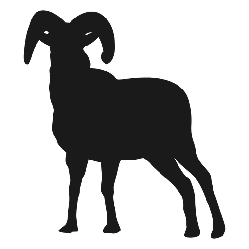 512x512 Goat Silhouette 2