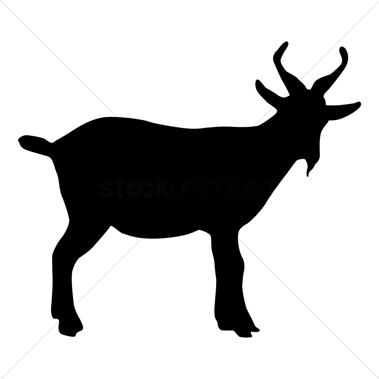 1300x1300 Silhouette Of Goat Vector Image
