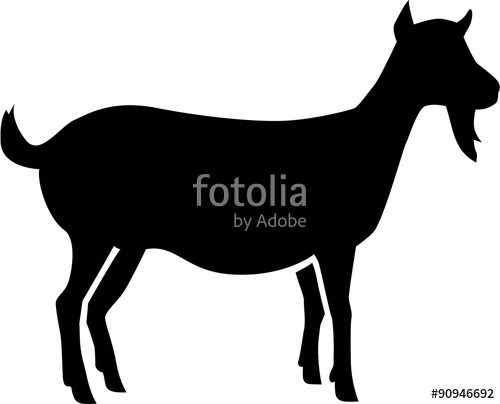 500x404 Female Goat Silhouette Stock Image And Royalty Free Vector Files