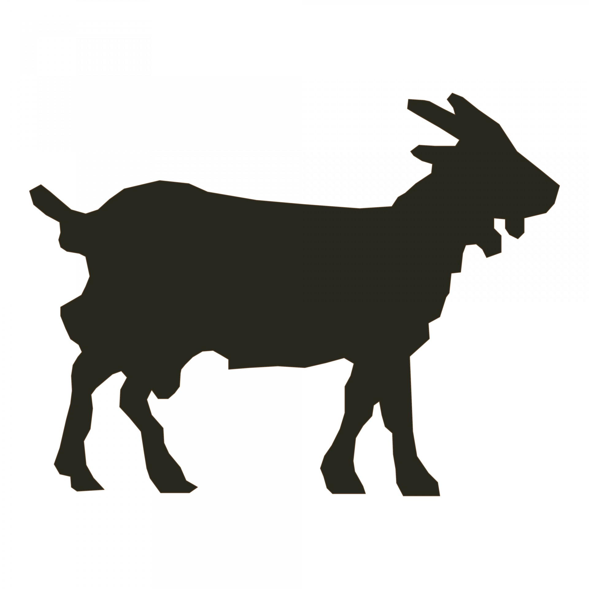 1920x1920 Goat Silhouette Free Stock Photo