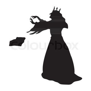 320x320 Goblin Silhouette Monster Villain Fantasy. Vector Illustration