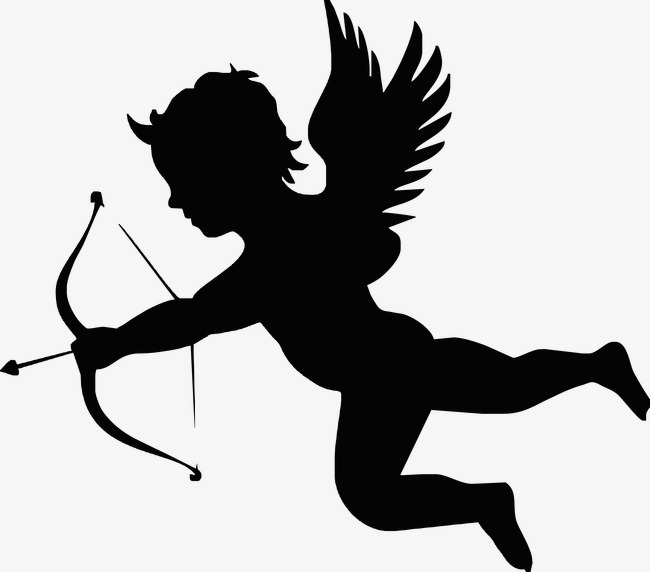 650x572 Cupid Silhouette, God Of Love, Black, Creative Png Image