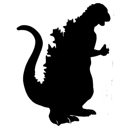 500x500 Godzilla Die Cut Vinyl Decal Pv210 Sticker Vinyl, Car Decal And Cars