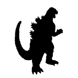 270x270 Godzilla Silhouette Stencil Crafty Things I Want To Try