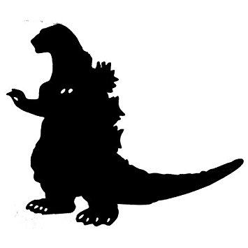 355x355 Godzilla Silhouette 4 Tall Decal Sticker For Cars
