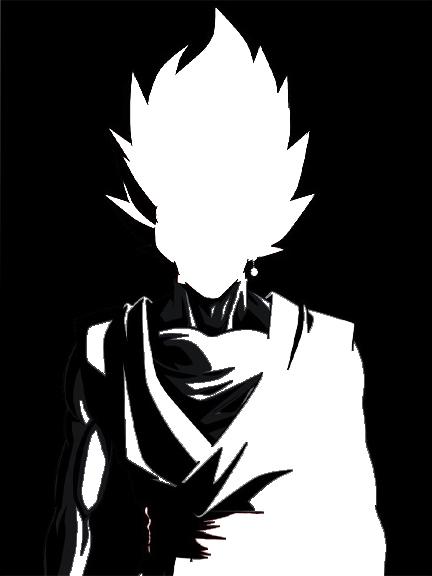 432x576 Goku Black Ssj Rose Silhouette (Black And White) By