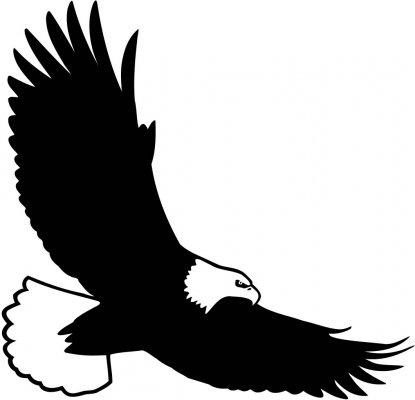 415x400 Bald Eagle Silhouette Clipart