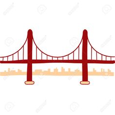 236x236 Golden Gate Bridge Pattern. Use The Printable Outline For Crafts