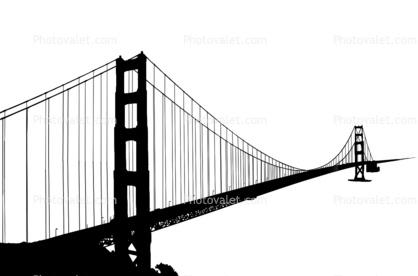 418x276 Golden Gate Bridge Silhouette, Logo, Shape Images, Photography