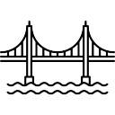 128x128 Golden Gate Bridge Icons Free Download