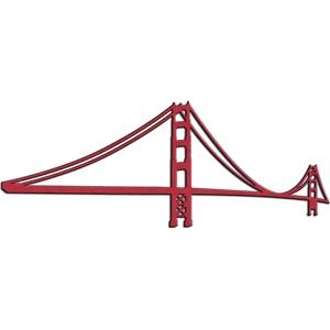 300x300 Golden Gate Bridge Silhouette
