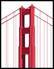 184x235 Golden Gate Bridge Vector Icon Premium Clipart