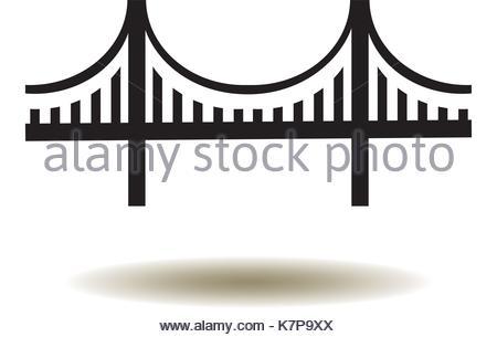450x305 Vector Illustration Of Golden Gate Bridge Icon Stock Vector Art