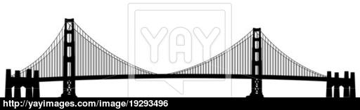 golden gate bridge silhouette vector at getdrawings com free for rh getdrawings com san francisco golden gate bridge clipart golden gate bridge icon clipart