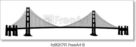 560x197 Free Art Print Of San Francisco Golden Gate Bridge Clip Art. San