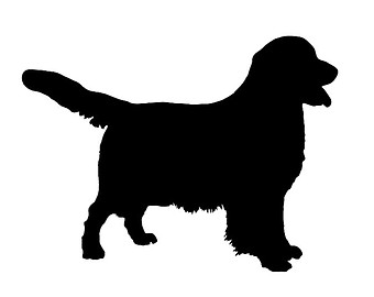 340x270 Golden Retriever V3 Dog Breed Silhouette Custom Die Cut Vinyl