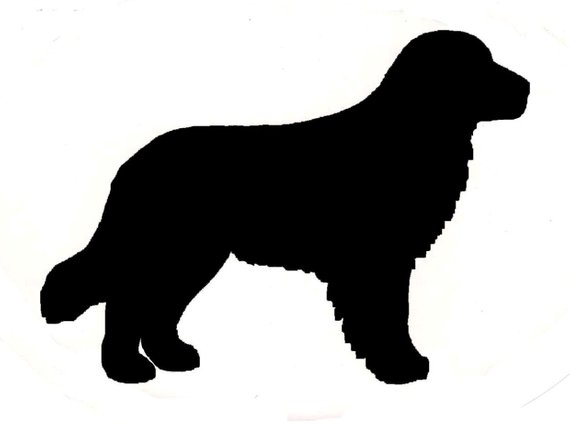570x426 Golden Retriever Dog Canine Profile Silhouette Window Decal