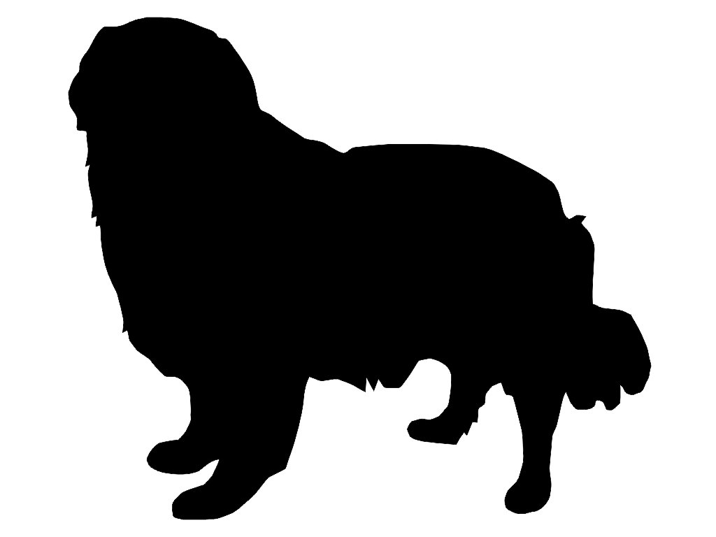 1024x768 Golden Retriever Head Silhouette