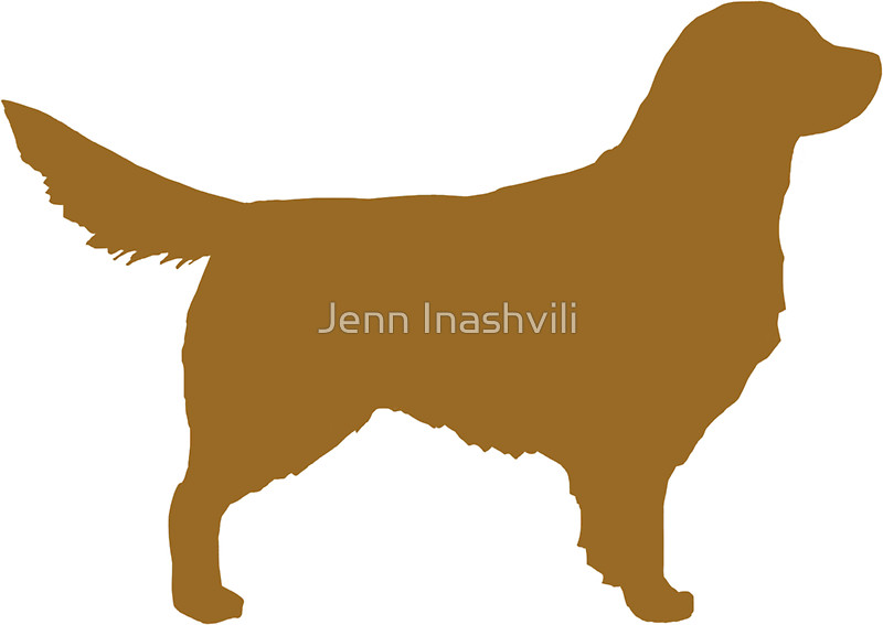 800x567 Golden Retriever Silhouette(S) Stickers By Jenn Inashvili Redbubble
