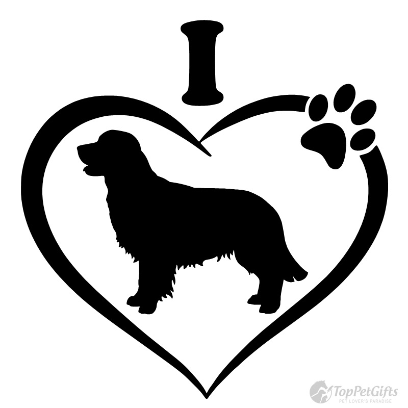 800x800 I Love My Golden Retriever Decal