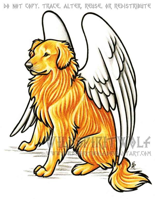 600x772 Golden Retriever Dog Memorial By Wildspiritwolf