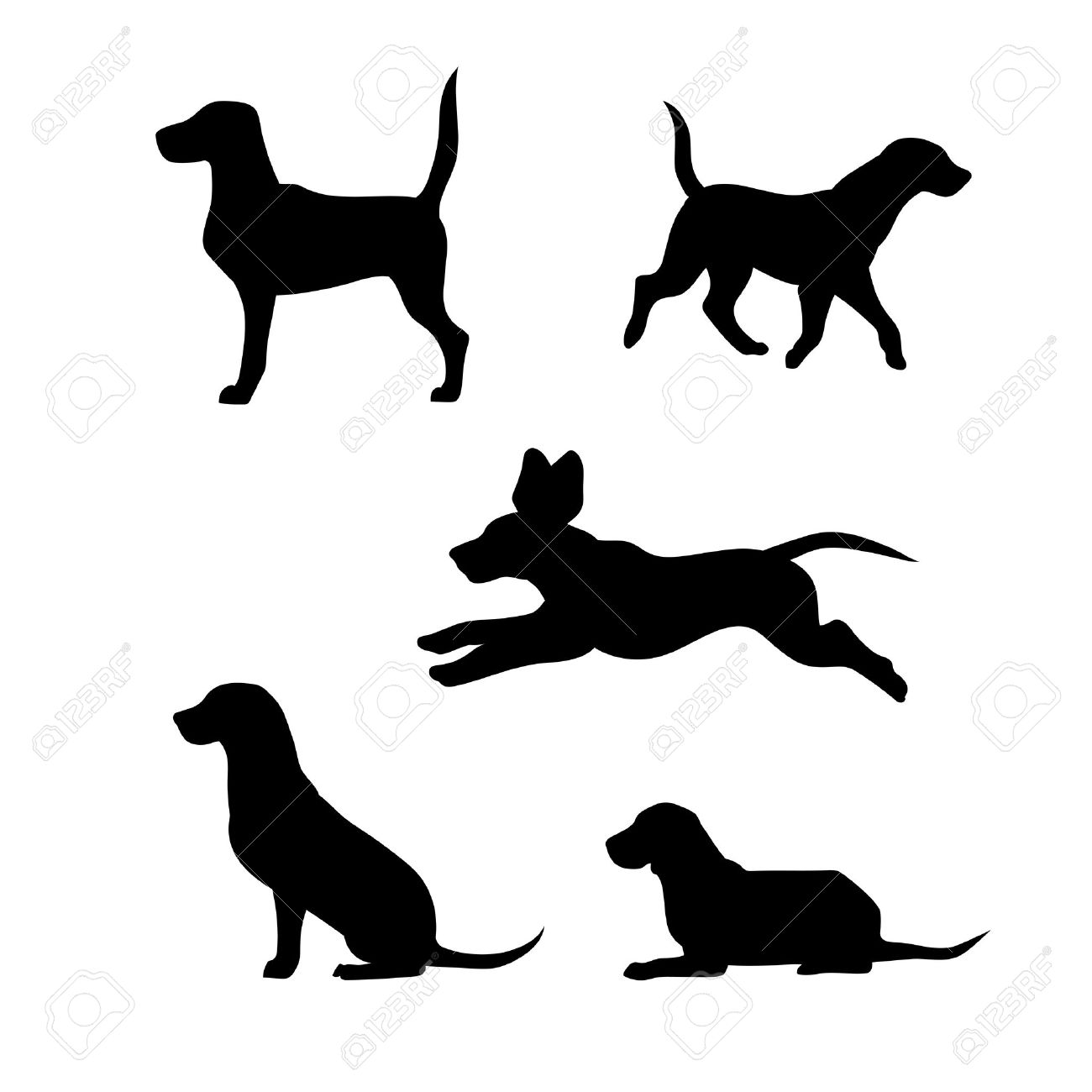 Golden Retriever Silhouette Clip Art