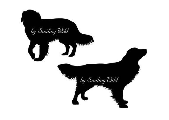 570x403 Golden Retriever Svg Silhouette Clipart Dog Cut File Printable