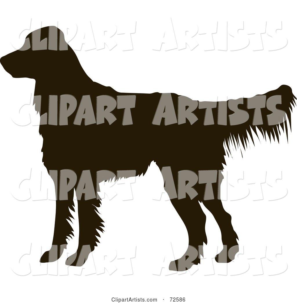 1024x1044 Dark Brown Golden Retriever Dog Silhouette Clipart By Pauloribau