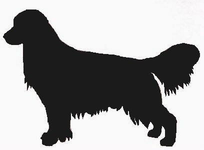 408x300 Golden Retriever Logo Stencils Dog