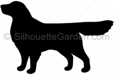 228x150 Golden Retriever Silhouette Coloring Page 2019