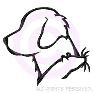 300x300 Golden Retriever And Rat Silhouette Embroidered Sweatshirt Sew