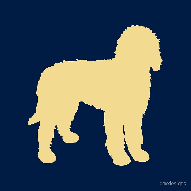 800x800 Golden Doodle Silhouette Throw Pillows By Emrdesigns Redbubble