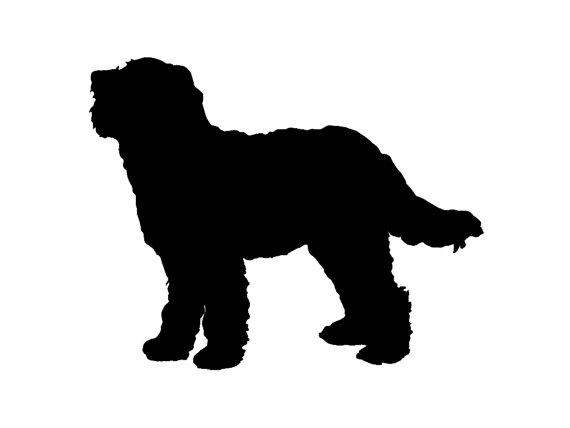 570x428 Goldendoodle Dog Breed Silhouette Custom Die Cut Vinyl Decal