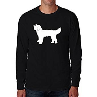 342x342 Eddany Goldendoodle Silhouette Long Sleeve T Shirt