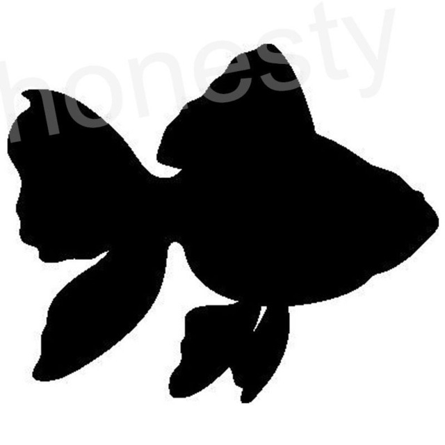 640x640 Goldfish Fish Small Carp Silhouette Car Sticker Laptop Truck Home