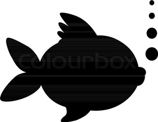 320x247 Silhouette Of Goldfish Stock Vector Colourbox