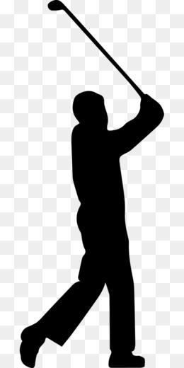 260x520 Golf Stroke Mechanics Silhouette Golfer Clip Art