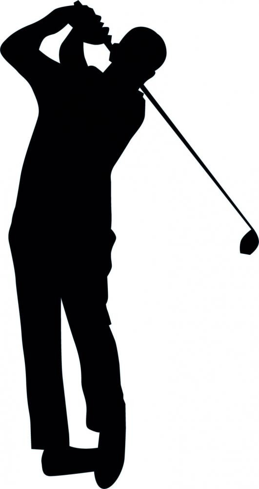 531x1000 Golfing Silhouette
