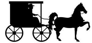 301x143 Horse And Buggy Silhouette Clip Art