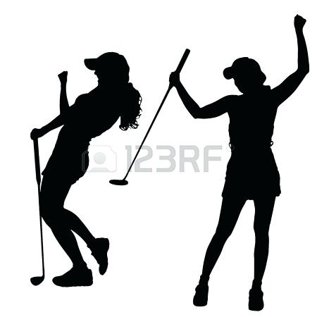 450x450 Golf Clipart Black And White