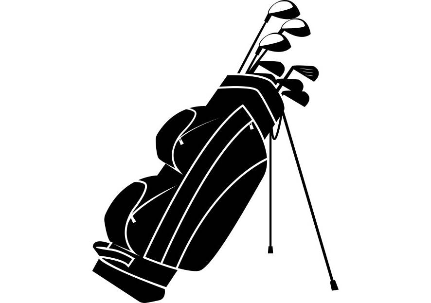 886x623 Golf Club Bag Golfer Golfing Clubs Sports Game Svg Eps Png