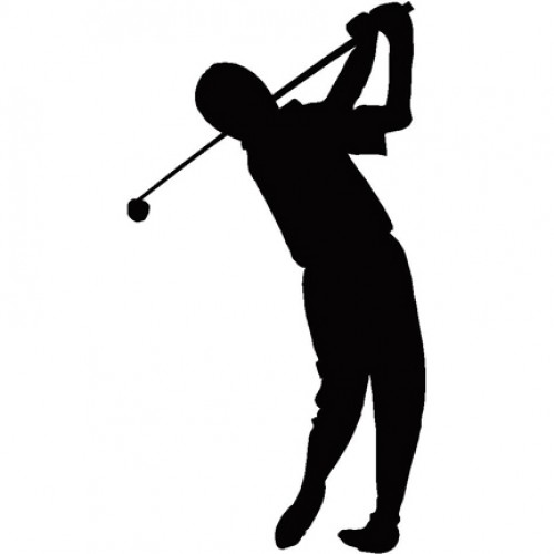 500x500 Golf Silhouette Free Clipart