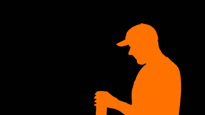 852x480 Silhouette Close Up Male Golfer Enjoying Time Golf Course Vacation