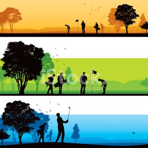 300x300 Golf Course Silhouettes Premium Clipart