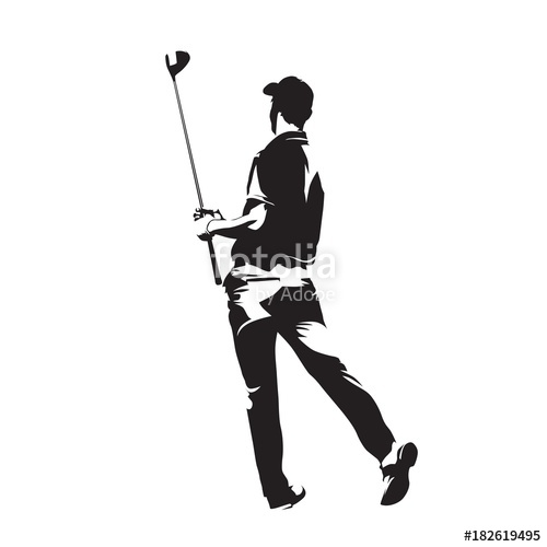 500x500 Golf Player Watching Ball After Golf Swing With His Driver