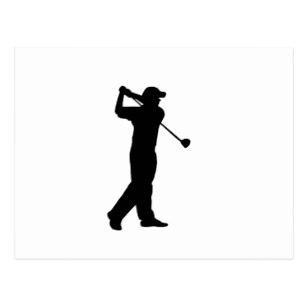 307x307 Golf Silhouette Postcards Zazzle
